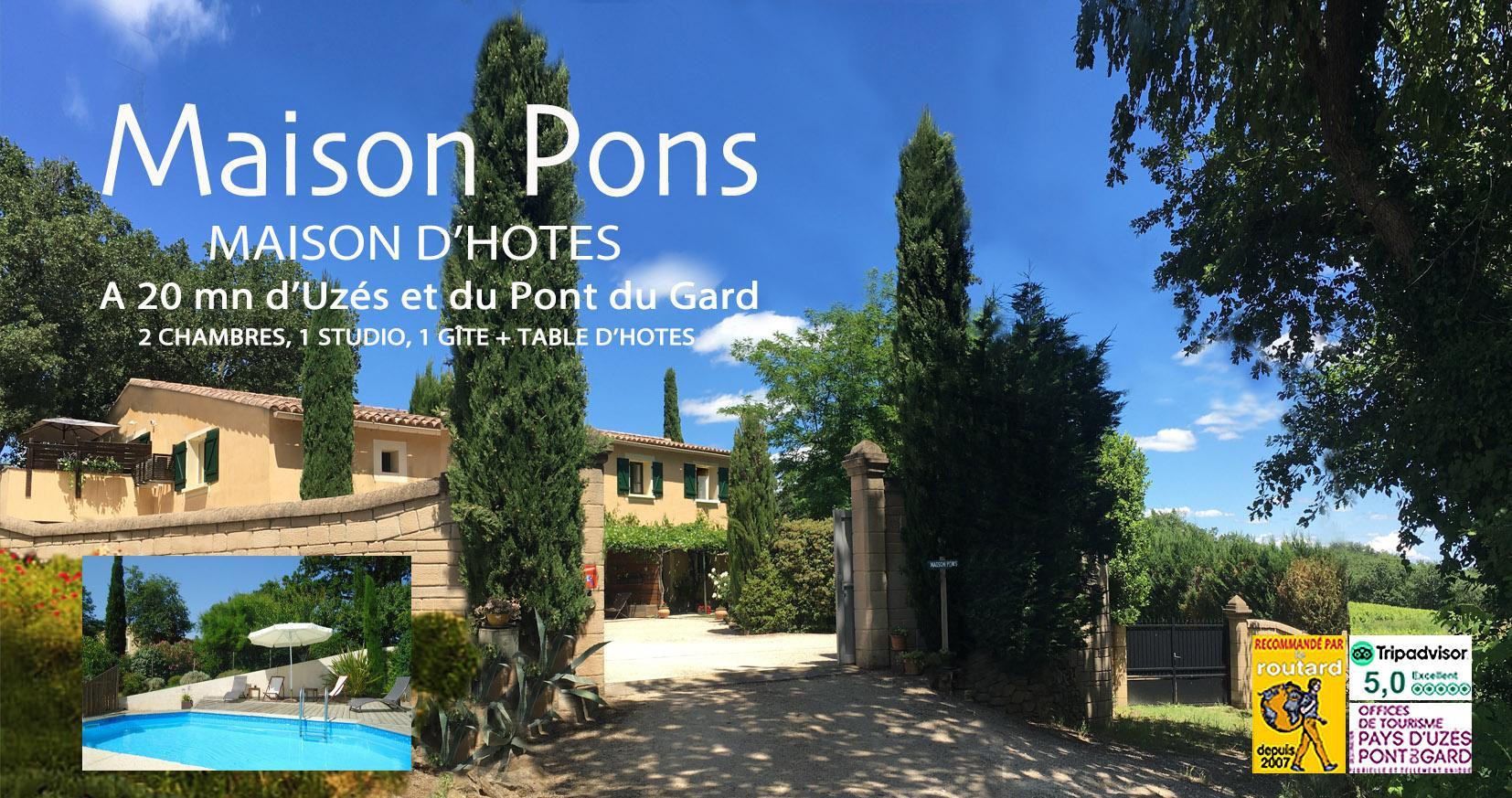Maison Pons Chambres d'hôtes Uzés Pont du Gard